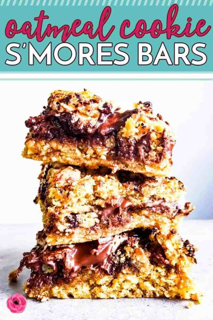 Oatmeal Cookie S'Mores Bars Image Pinterest