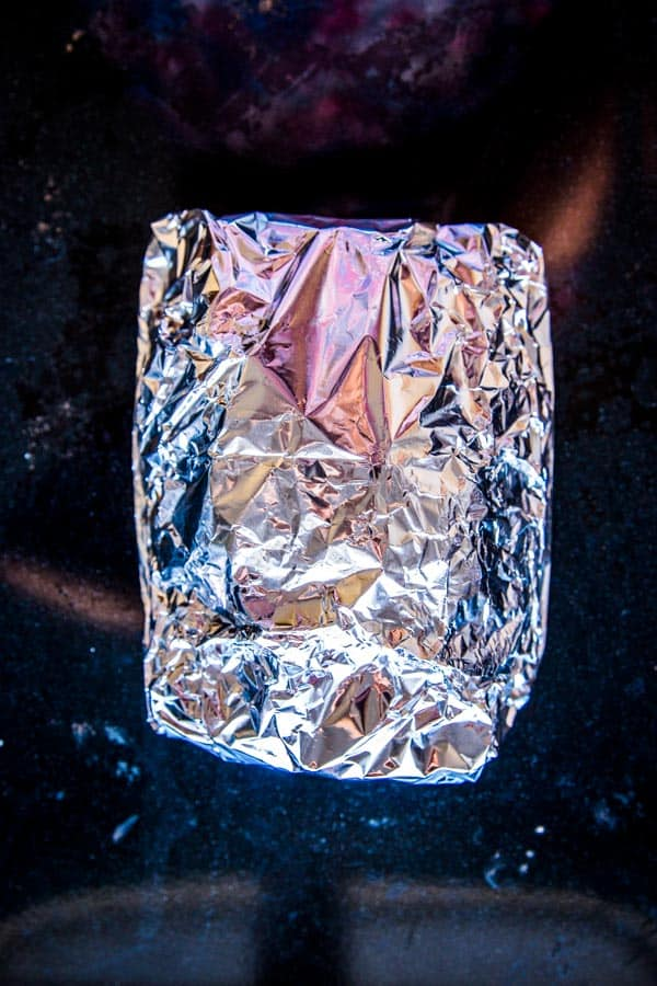 salmon foil packet, ready for the grill or oven
