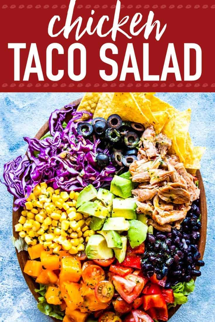 Chicken Taco Salad Image Pinterest Pin 2