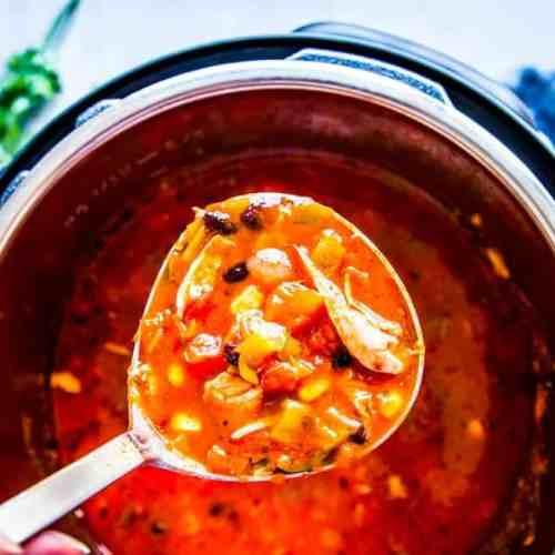 Instant Pot Chicken Tortilla Soup Image TK