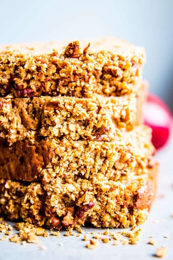 stacked slices of applesauce bread