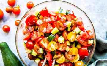 Tomato Cucumber Salad Image TK
