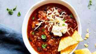 Instant Pot Turkey Pumpkin Chili
