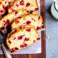 cranberry orange bread in slices