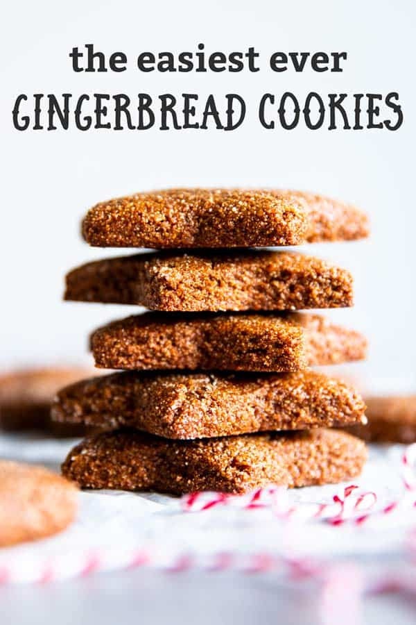 stack of gingerbread cookies with writing