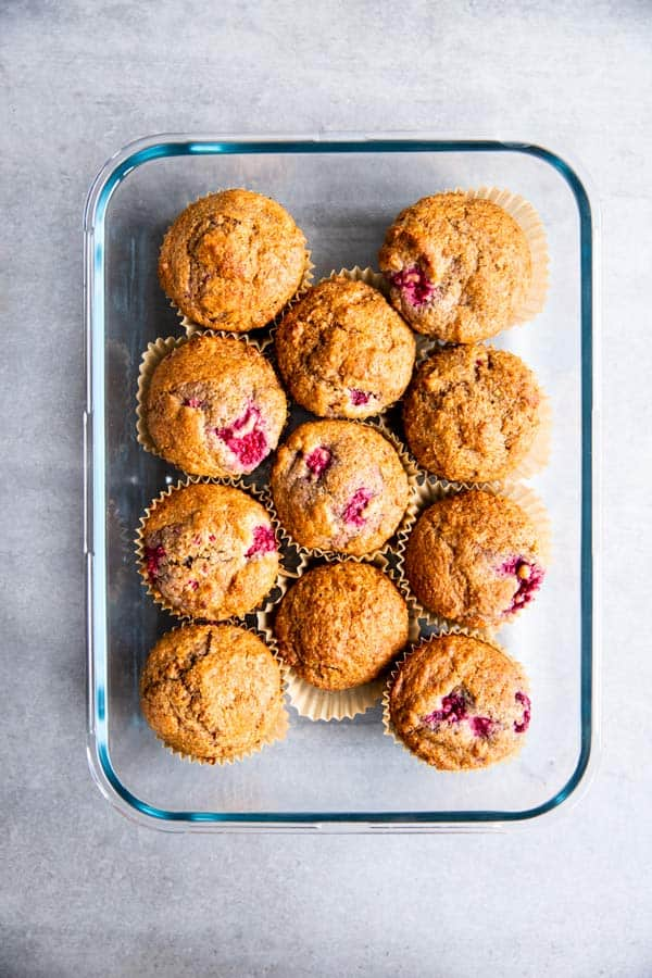 Greek Yogurt Raspberry Muffins Image 1