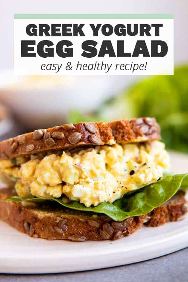 Greek Yogurt Egg Salad Pin 1