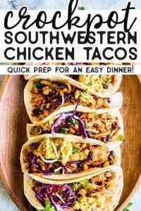 Crockpot Chicken Tacos Pin 2