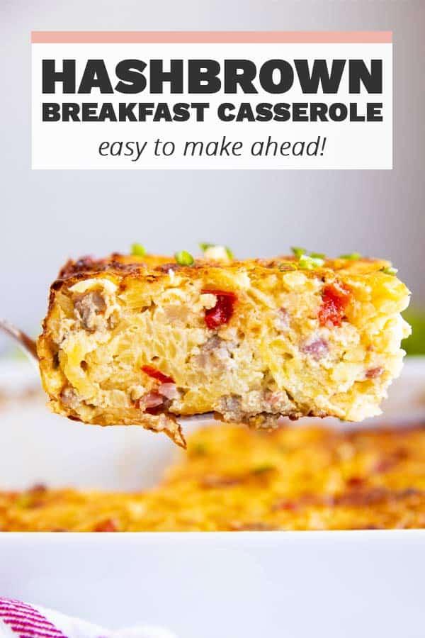 Hashbrown Breakfast Casserole Pin 1