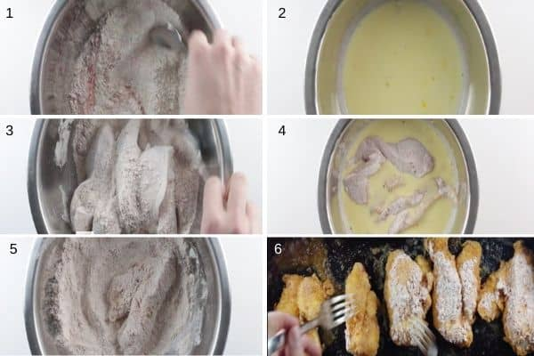 Oven Fried Chicken Step by Step