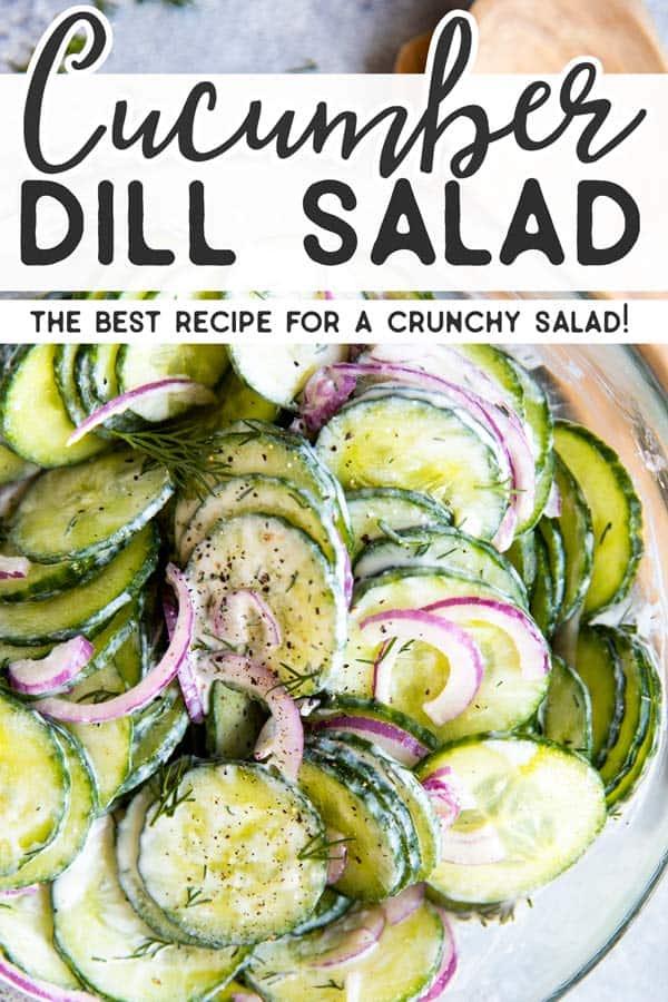 Creamy Cucumber Salad Pin 2