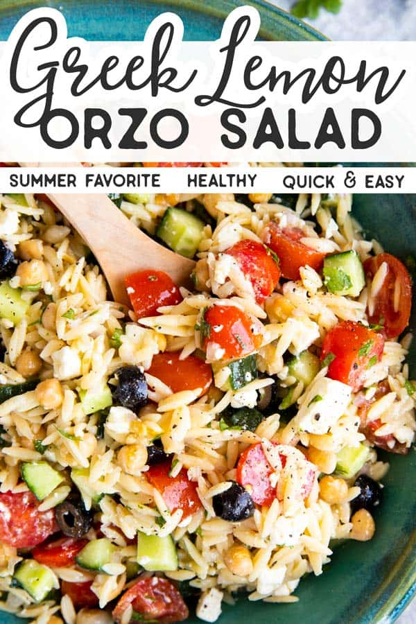 Greek Orzo Salad Pin 1
