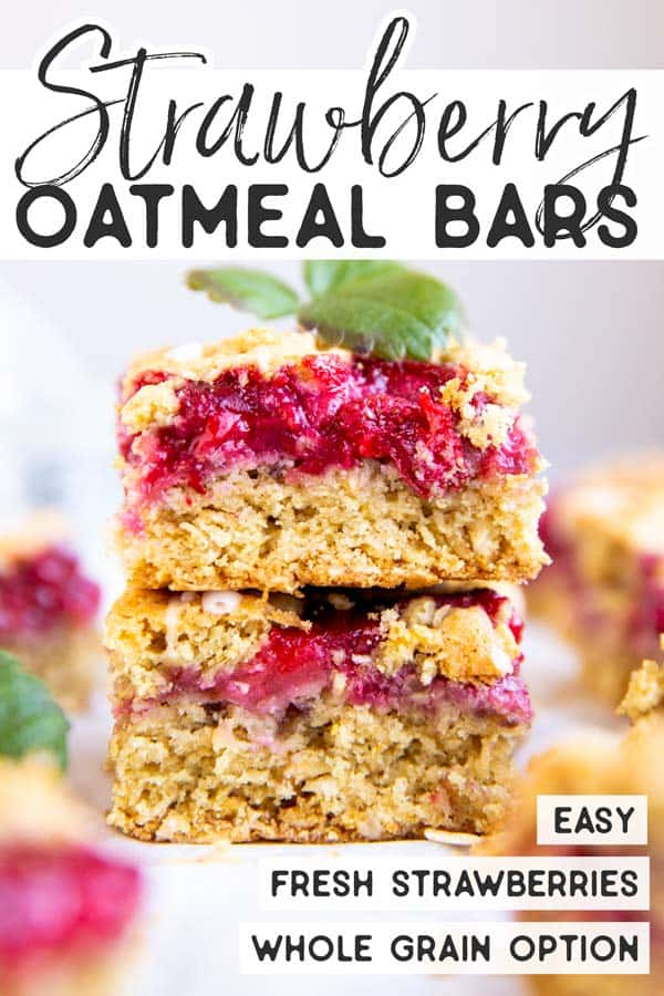 Strawberry Oatmeal Bars Pin 1