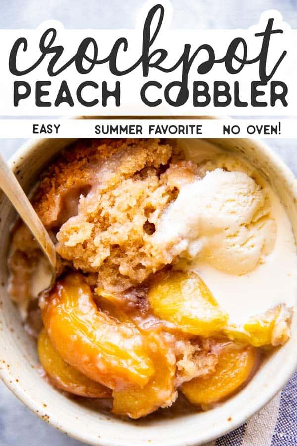 Crockpot Peach Cobbler Pin 1