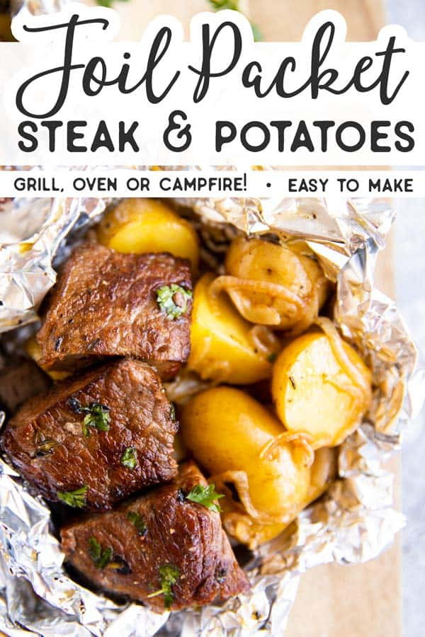 Steak and Potato Foil Packets Pin 1