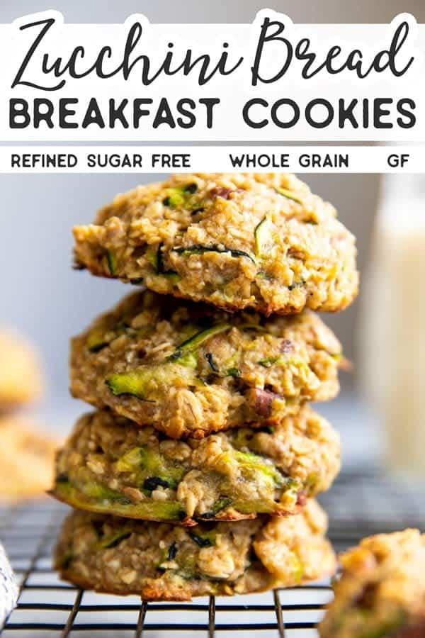 Zucchini Oatmeal Breakfast Cookies Pin 1