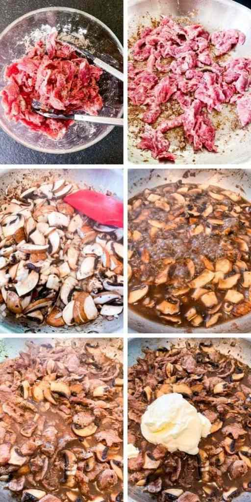 How to Make Beef Stroganoff Infographic