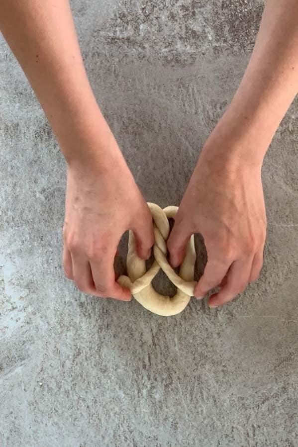 shaping pretzels: 3