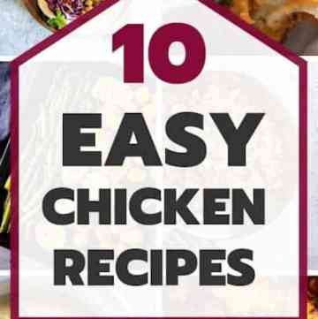 Easy Chicken Recipes Pin