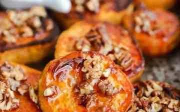 close up photo of roasted sweet potato slices