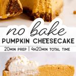 No Bake Pumpkin Cheesecake Pin