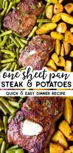Sheet Pan Steak and Potatoes Pin 1
