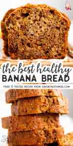 Healthy Banana Bread Image Pin