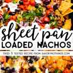 Sheet Pan Nachos Image Pin