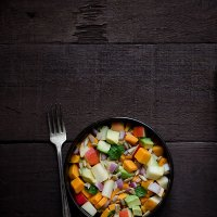Sweet Potato, Apple and Avocado Salad (Paleo, Gluten Free, Vegan)