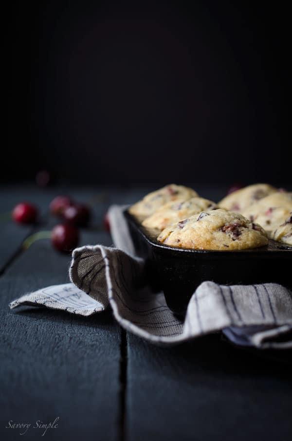 Cherry Vanilla Muffins - Easy Recipes - Savory Simple