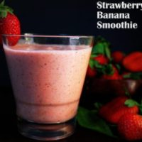 Strawberry Banana Flax Seeds Yogurt Smoothie Recipe