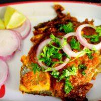 Pomfret Fish Masala Fry or Pomfret Tawa Fry