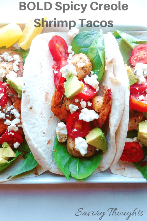 Bold Spicy Creole Shrimp Tacos
