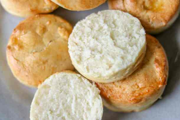 How to make gluten-free biscuits - Gluten-free biscuitsmade completely from scratch, buttery, soft, and gluten-free. This recipe is made with all butter and no xanthan gum!