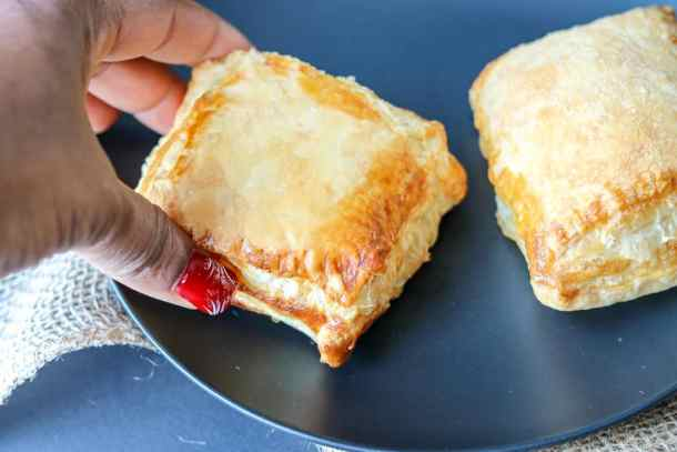 Haitian Patties (Haitian Pate) Recipe - BHM Virtual Potluck on black plate