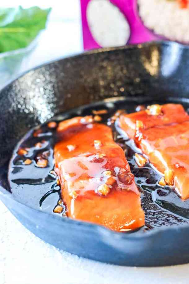 salmon rice bowl - Salmon in Sauce