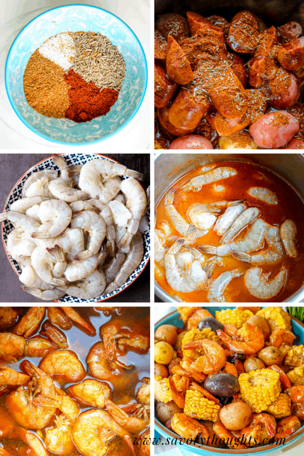 How to cook low country shrimp boil. Step by Step photo guide.