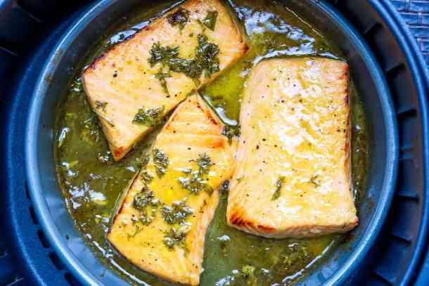 air fryer dijon mustard glazed salmon