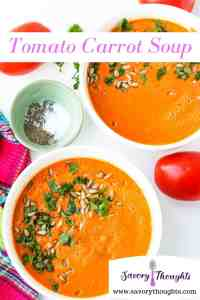 Easy homemade tomato soup pin