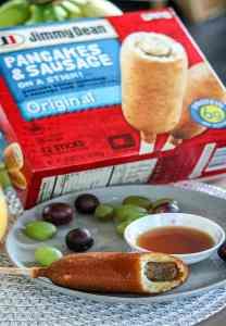 Jimmy Dean Freezer pancake and sausage on a stick pinterest pin