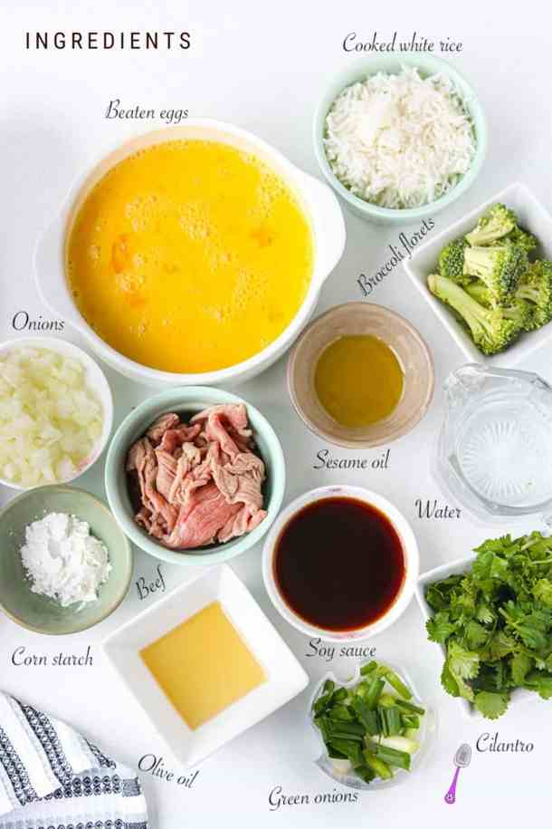 Photo with list of ingredients