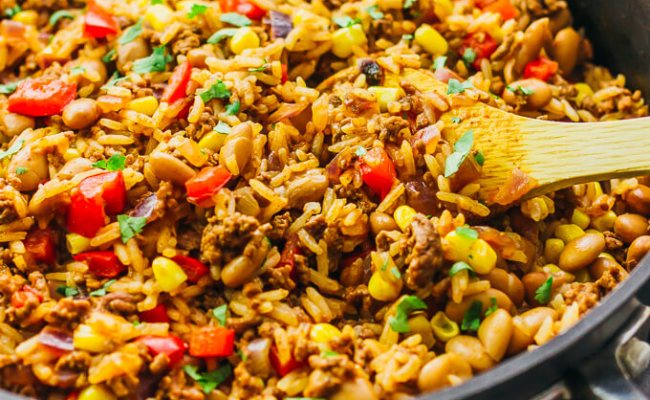 Ground Beef And Rice Recipes Skillet