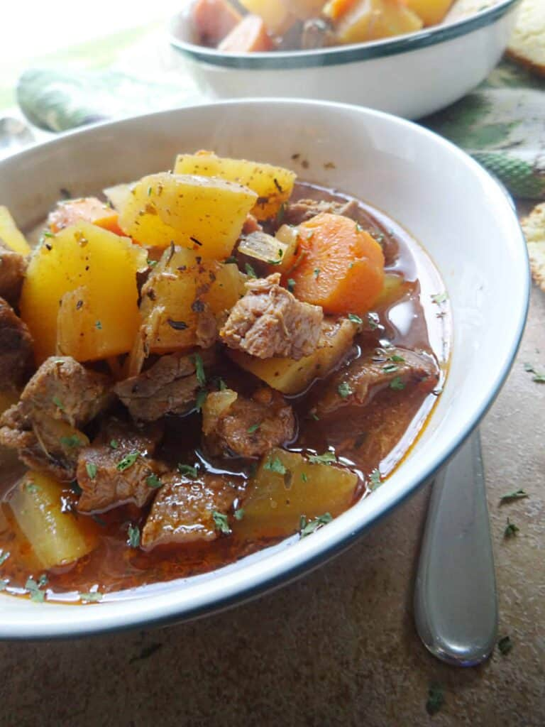 Easy Beef Stew Slow Cooker Recipe - Savory With Soul