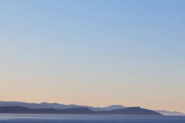 vue du phare sur la côte tasmanie