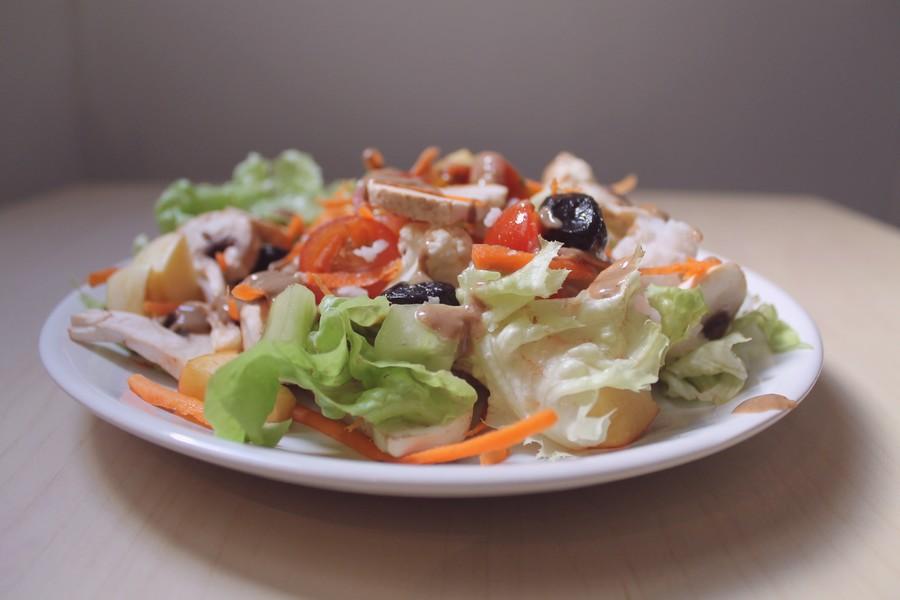 salade composée de légumes une journée dans mon assiette