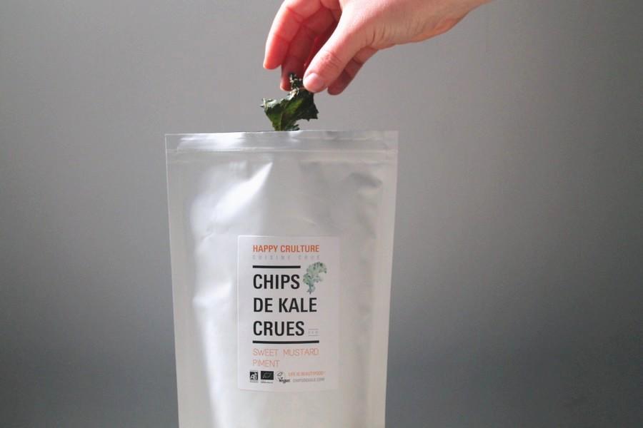 chips de kale crues happy crulture
