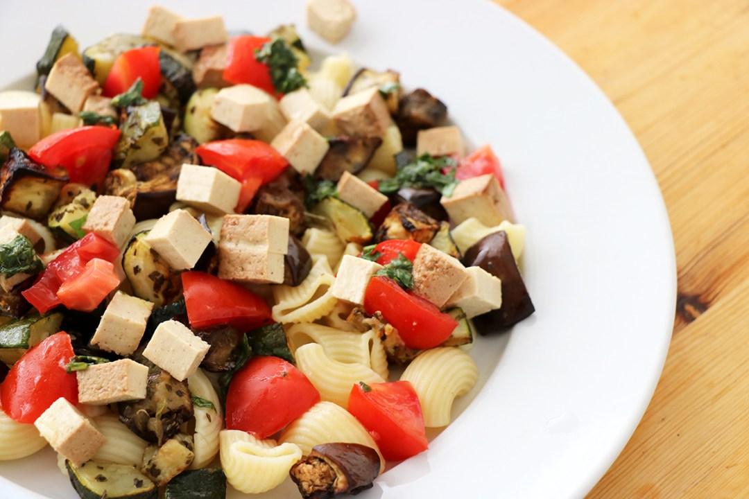 salade de pates legumes rotis vegan