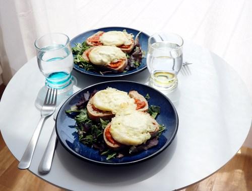 recette de salade toast de chevre chaud vegan