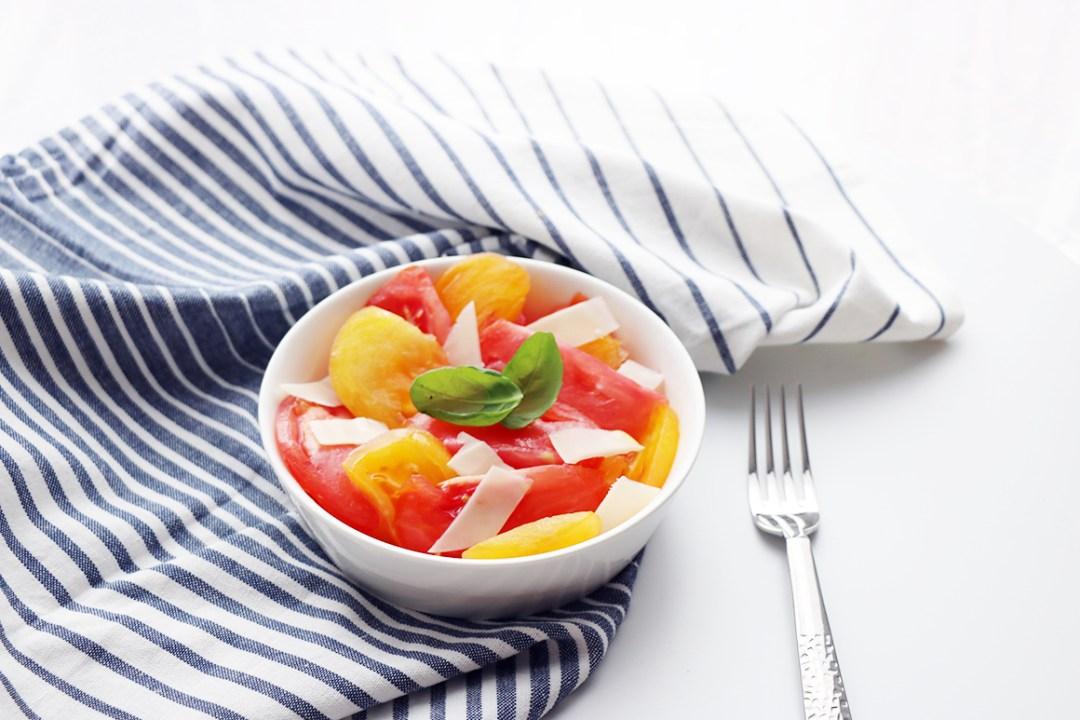 salade de tomates rafraichissante facile