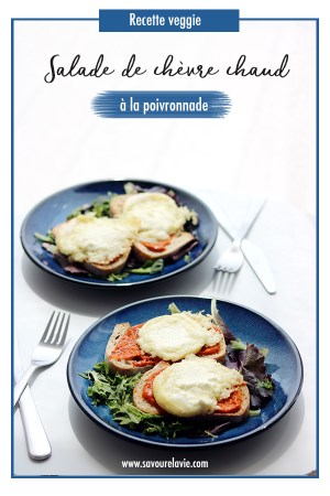 salade toasts au chevre chaud vegetarien